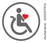 disabled person in wheelchair...   Shutterstock .eps vector #1020357913