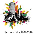 grunge party town | Shutterstock .eps vector #10203598