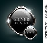 silver shiny modern element.... | Shutterstock .eps vector #102036403