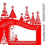 christmas red tag for sale with ... | Shutterstock .eps vector #1020373237