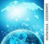 earth from space. best internet ... | Shutterstock . vector #1020386893