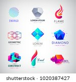 vector set of abstract web... | Shutterstock .eps vector #1020387427