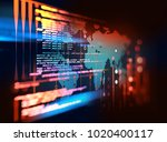programming code abstract... | Shutterstock . vector #1020400117