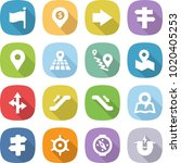 flat vector icon set   flag... | Shutterstock .eps vector #1020405253