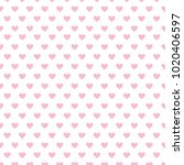 hearts seamless pattern design... | Shutterstock .eps vector #1020406597