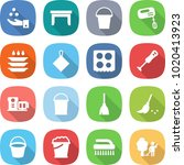 flat vector icon set   chemical ... | Shutterstock .eps vector #1020413923