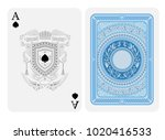 ace of spades face with spades... | Shutterstock .eps vector #1020416533