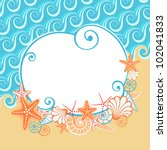 vector background with sea ... | Shutterstock .eps vector #102041833
