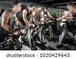 group of sporty people working...   Shutterstock . vector #1020429643