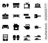 origami style icon set   home... | Shutterstock .eps vector #1020433777