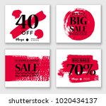 set of six different sale... | Shutterstock .eps vector #1020434137