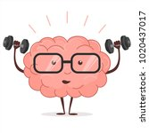 brain training with dumbbells... | Shutterstock .eps vector #1020437017