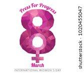 international women's day...   Shutterstock . vector #1020455047