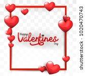 valentines day background frame ...   Shutterstock .eps vector #1020470743