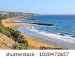 playa ingles beach overview in... | Shutterstock . vector #1020472657