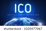 ico initial coin offering...   Shutterstock . vector #1020477067