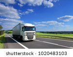 truck transportation on the road | Shutterstock . vector #1020483103