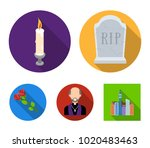 a granite tombstone with an...   Shutterstock .eps vector #1020483463