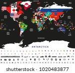 vector abstract illustration of ... | Shutterstock .eps vector #1020483877