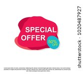 special offer creative banner... | Shutterstock .eps vector #1020487927