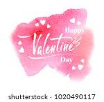happy valentine's day ... | Shutterstock .eps vector #1020490117