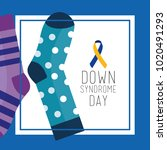 down syndrome day greeting card ... | Shutterstock .eps vector #1020491293
