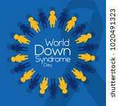 world down syndrome day people... | Shutterstock .eps vector #1020491323