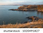 view of a small natural gulf at ... | Shutterstock . vector #1020491827