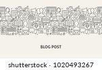 blog banner concept. vector... | Shutterstock .eps vector #1020493267