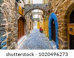 rhodes  greece   february 04 ... | Shutterstock . vector #1020496273