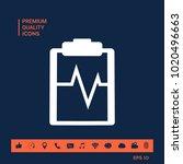 electrocardiogram symbol icon   Shutterstock .eps vector #1020496663