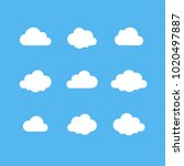 cloud outline vector icon set....
