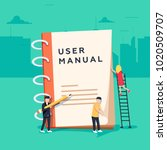 User Manual Flat Style Vector...