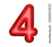 cartoon foil balloon symbol.... | Shutterstock . vector #1020513223
