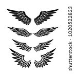illustration of wings... | Shutterstock .eps vector #1020522823