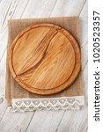 pizza board and canvas napkin... | Shutterstock . vector #1020523357