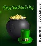 st. patrick s day symbol green... | Shutterstock .eps vector #1020526273