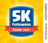 5000 followers thank you design ... | Shutterstock .eps vector #1020528883