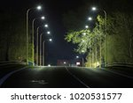 City Road At Night With Led...