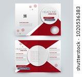 fold brochure template. flyer... | Shutterstock .eps vector #1020536383