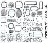 scribble doodles sketchy back... | Shutterstock .eps vector #102053683