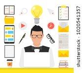 online learning  e learning... | Shutterstock .eps vector #1020541357