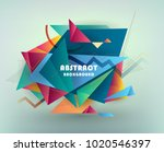colorful abstract design.... | Shutterstock .eps vector #1020546397