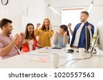 business  success and people... | Shutterstock . vector #1020557563