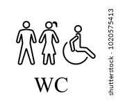 wc for people | Shutterstock . vector #1020575413