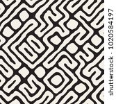 seamless pattern with maze... | Shutterstock .eps vector #1020584197