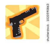 vector cute gun icon colorful... | Shutterstock .eps vector #1020590863
