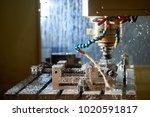 metalworking cnc milling... | Shutterstock . vector #1020591817