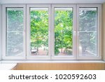 plastic window and beutiful...   Shutterstock . vector #1020592603