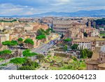 cityscape of rome city  italy.... | Shutterstock . vector #1020604123